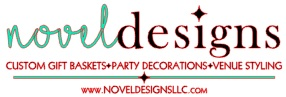 Novel Designs, LLC of Las Vegas Custom Gift Baskets, Party Decorations & Venue Styling Logo