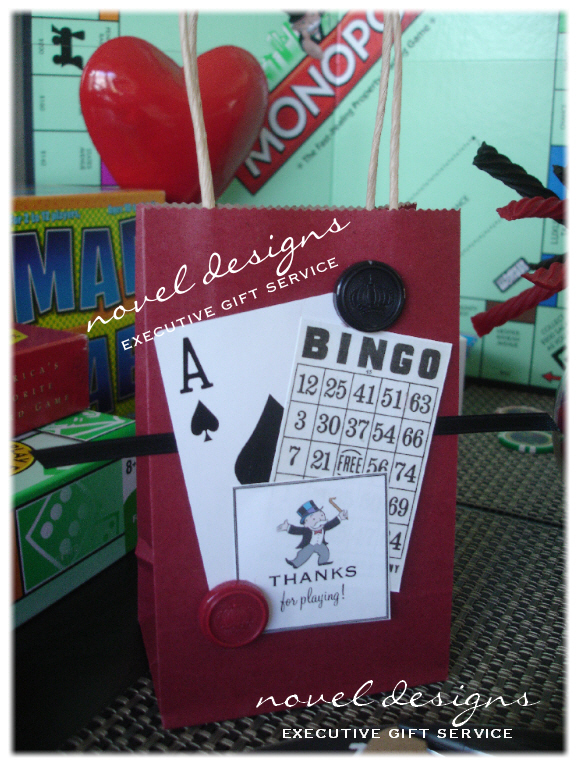 Las vegas event styling custom made party decor venue for Bag decoration games
