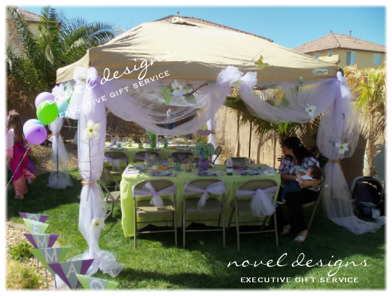 Las vegas event styling custom made party decor venue for Outdoor party tent decorating ideas