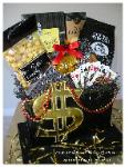 Novel Designs, LLC of Las Vegas Custom Vegas Riches Gift Basket, Custom Las Vegas Gift Baskets, Gift basket Delivered Las Vegas Hotels, Las Vegas Corporate, Convention, Conference & Meeting Gift Baskets
