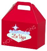 Novel Designs Exclusive Welcome to Las Vegas Red Gable Gift Box